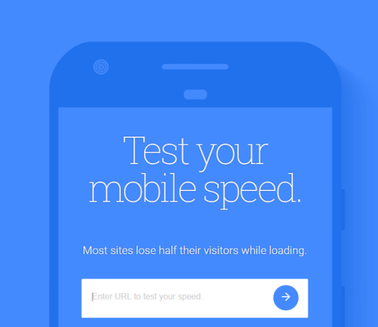Google Test My Site 2 - tool for measuring mobile web page speed