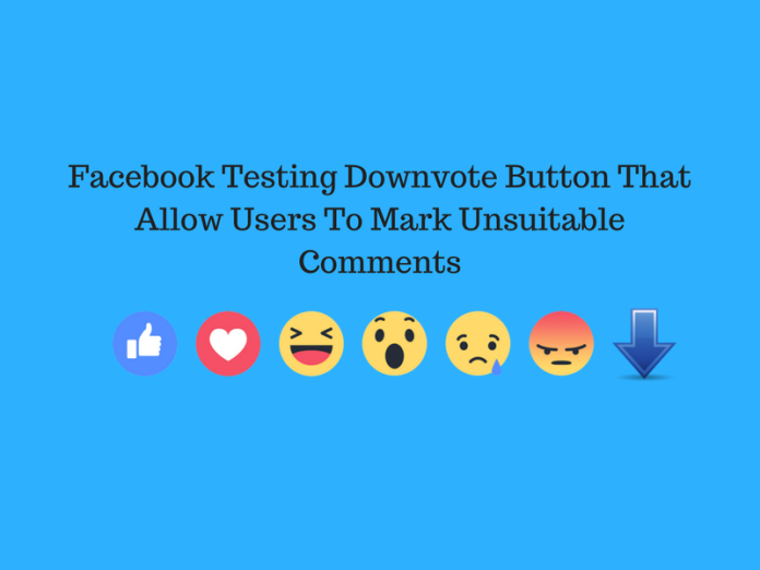 Facebook Testing Downvote Button That Allow Users To Mark Unsuitable Comments