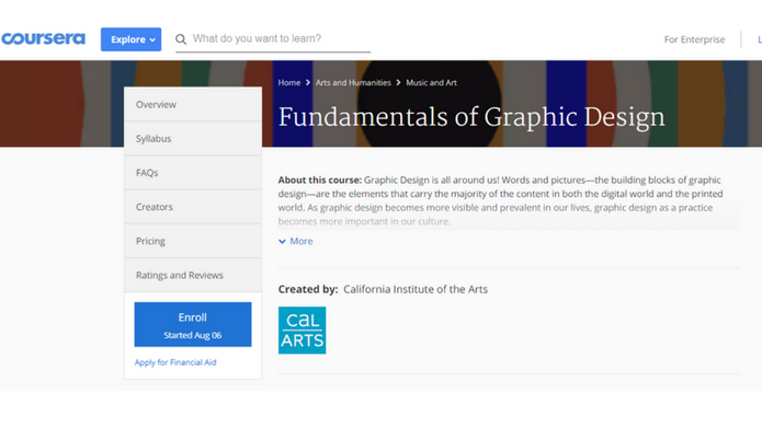 List of best graphic design courses - Free And Helpful | techcresendo