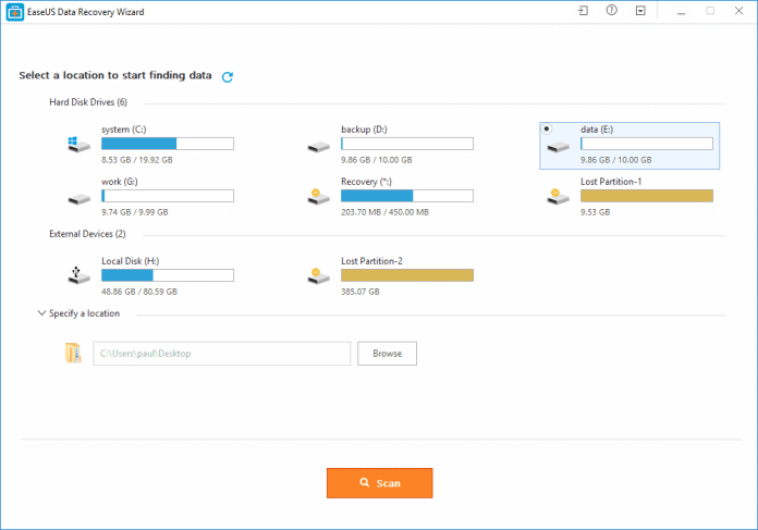 EaseUs - Free Data Recovery Software That Will Enable You To Recover Lost And Erased Documents