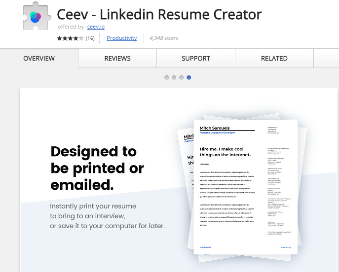 Ceev: How To Generate CV Through LinkedIn Profile | techcresendo
