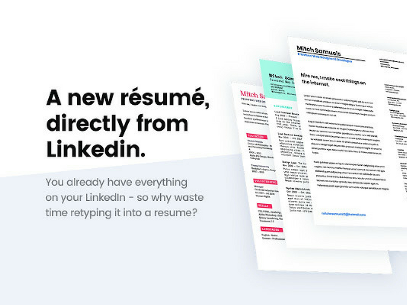 Ceev How To Generate CV Through LinkedIn Profile
