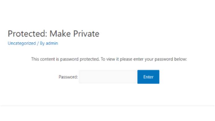 Create A Private WordPress Blog or A Private Post