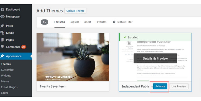 Step By Step Guide To Install A WordPress Theme