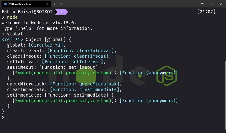 Techdiary: Node Js on terminal