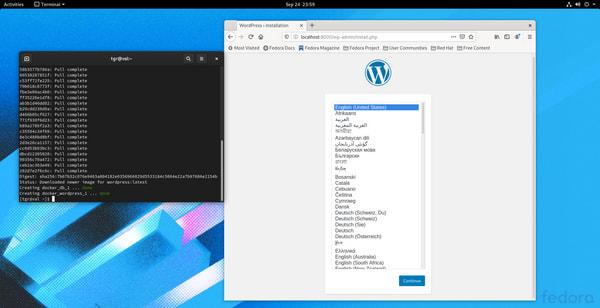 Install Docker Compose Fedora 32