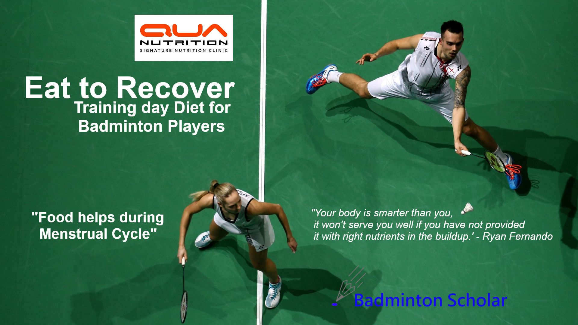 Eat to Recover - Training day diet for Badminton Players