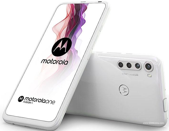 Motorola One Fusion+ white colour