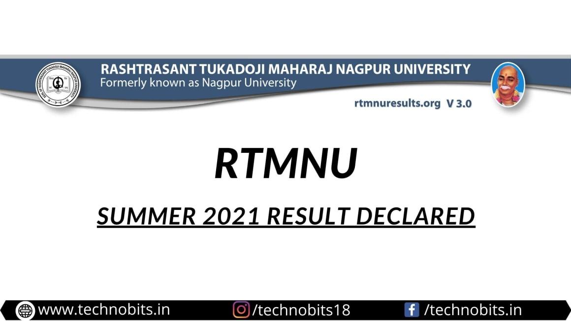 RTMNU Summer 2021 Result Declared