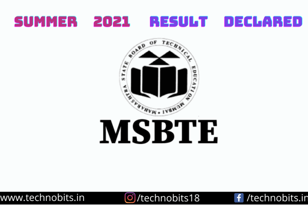 MSBTE Summer 2021 result declared Check here