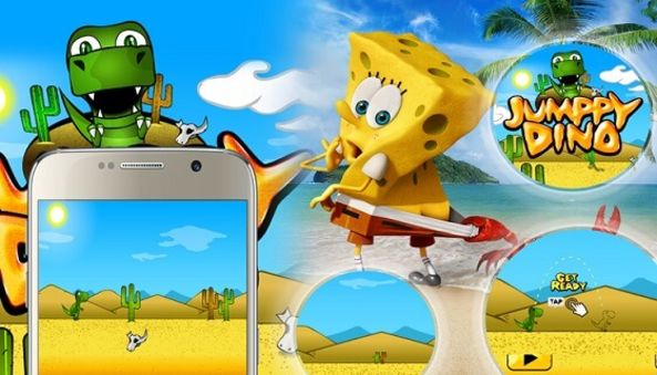 JumpyDino Game , Technokriti Solutions LLP , mobile game , android game , ios game , agile development