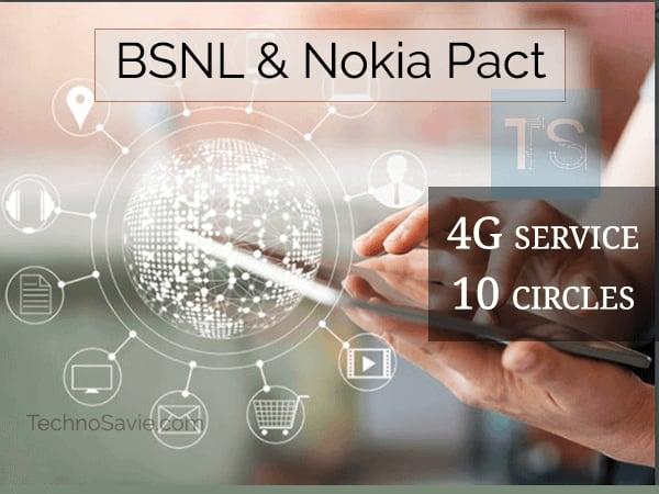 BSNL 4G services soon launch in 10 circles through Nokia