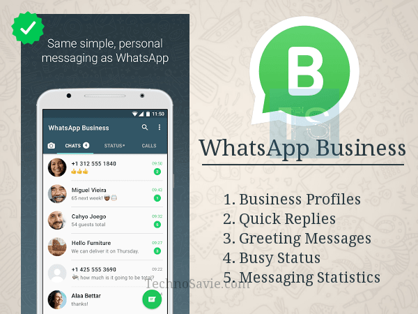 WhatsApp Business App launched