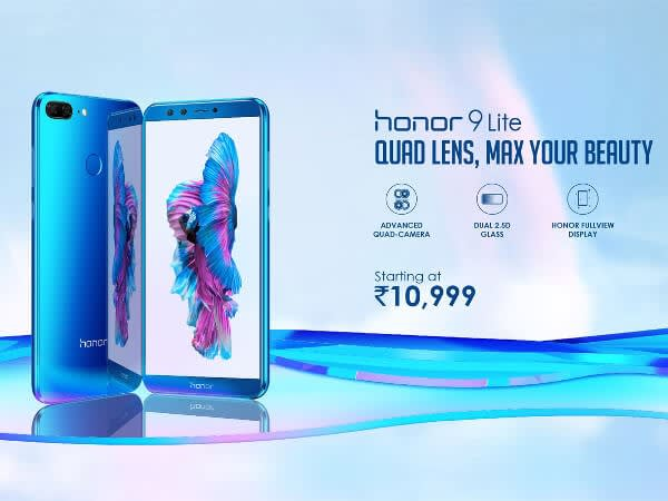 Honor 9 Lite with four cameras launched in India: Price, Offers & Specs