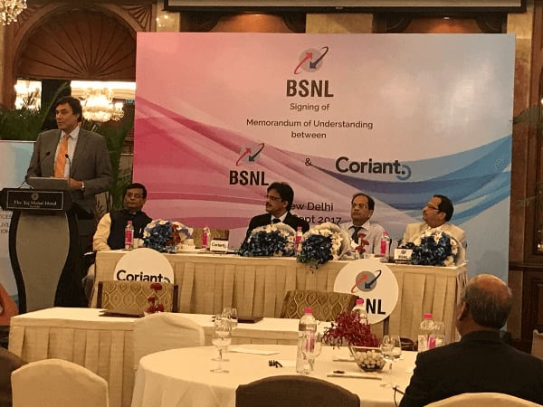 BSNL & Coriant signed pact to accelerate 5G and IoT growth in India