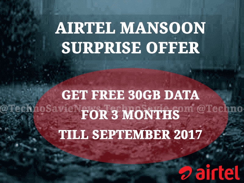Airtel Monsoon Surprise offer
