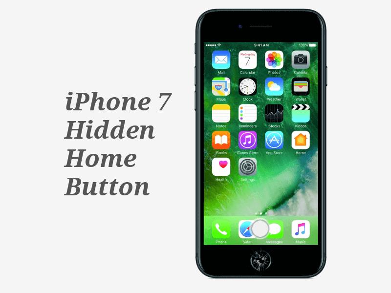 iPhone7 Hidden home button