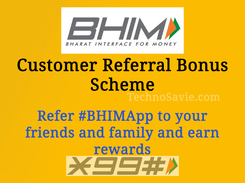 BHIM Customer Referral Bonus Scheme: