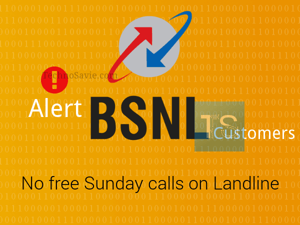 Alert BSNL customers! No free Sunday calling on Landlines from Feb 1