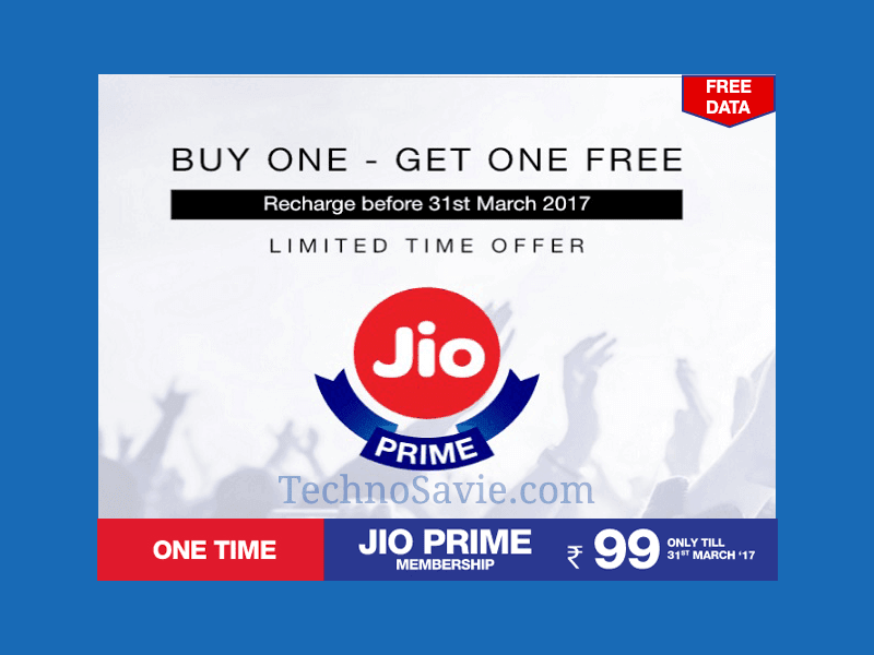 Reliance Jio Prime Membership : Offers 120 GB Free Data