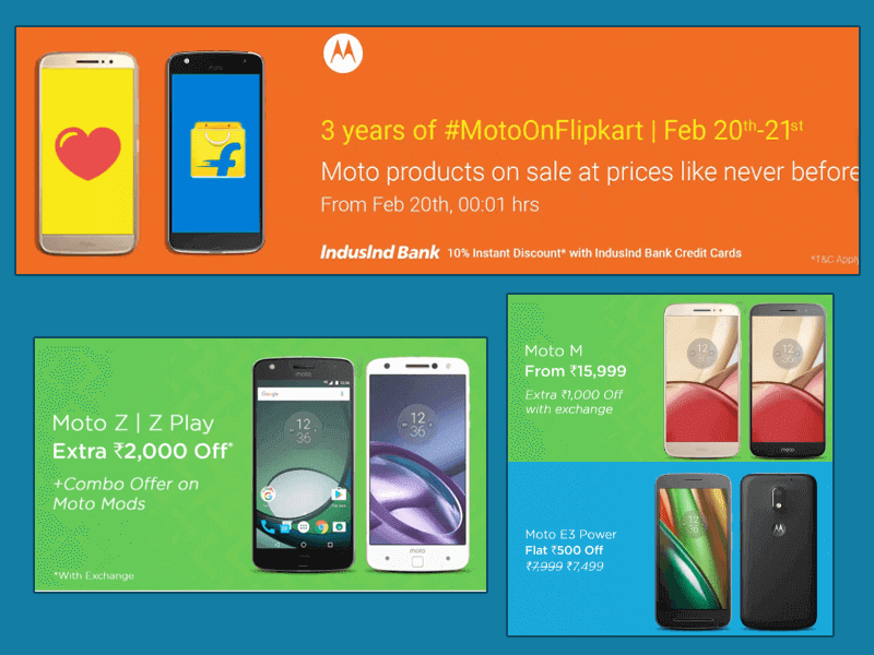 Motorola Anniversary Sale On Flipkart On February 20-21