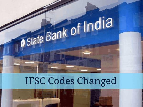 SBI IFSC codes changed