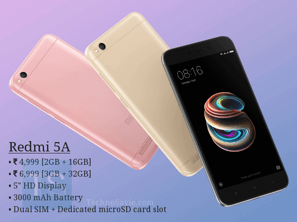 #DeshKaSmartPhone Redmi 5A launched