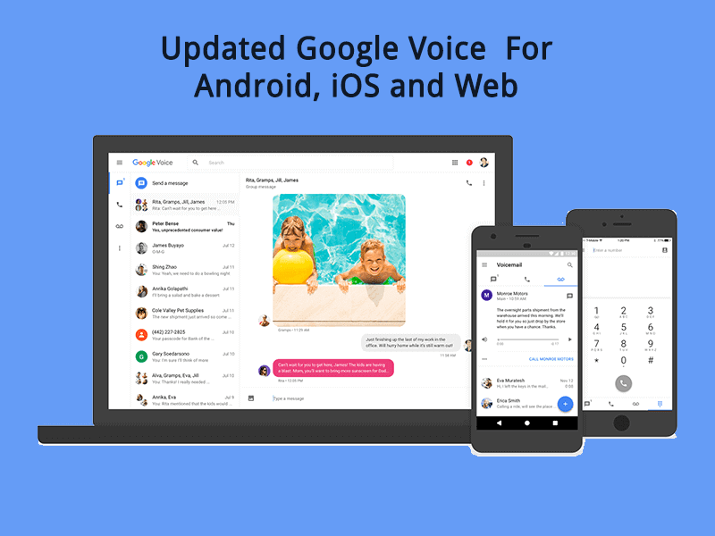 Updated Google Voice App For Android, iOS and Web With New Features