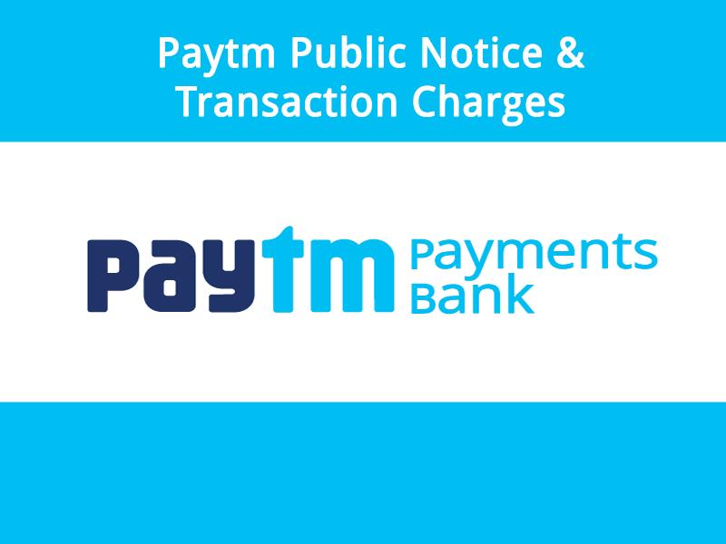 Paytm Public Notice