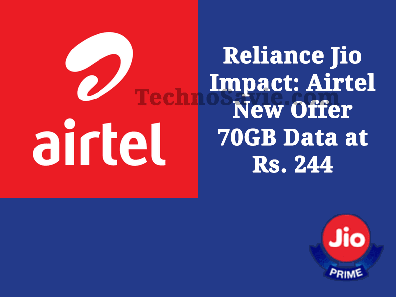 Airtel New Offer 70GB Data at Rs. 244