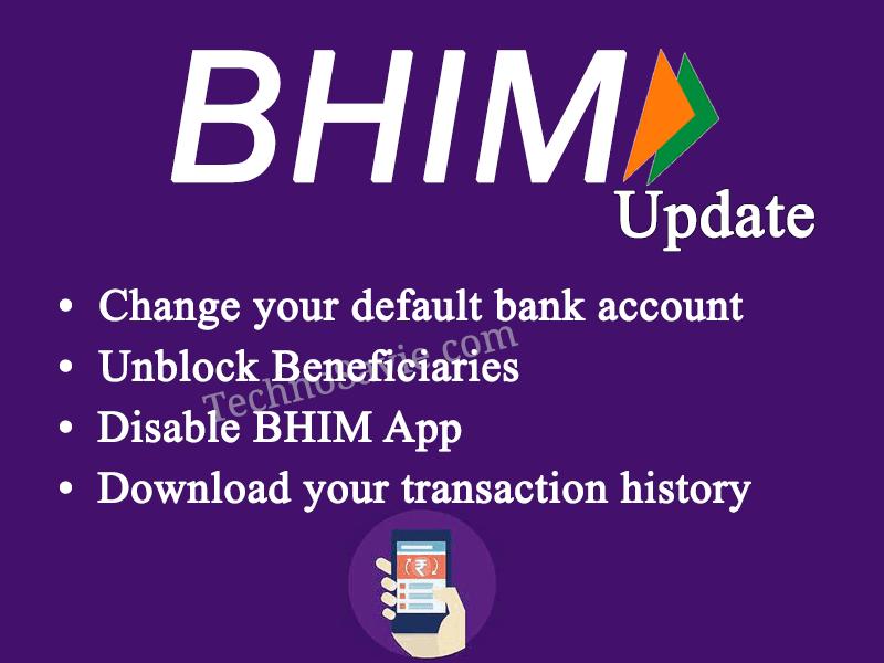 BHIM App update