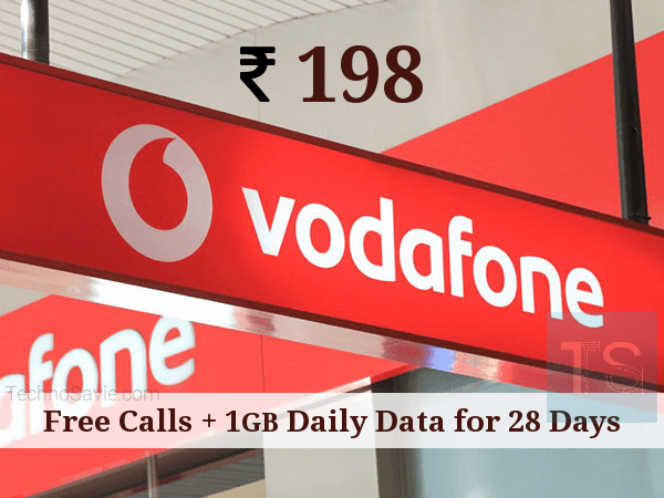 Vodafone Rs 198 Plan Free Calling 1GB Daily Data