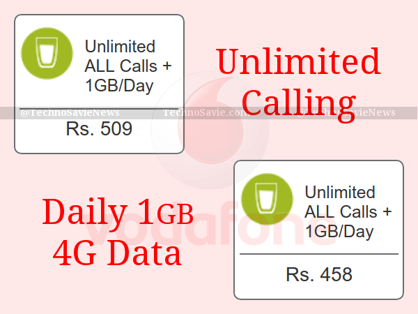 Vodafone Unlimited Calling 458 509 Offer