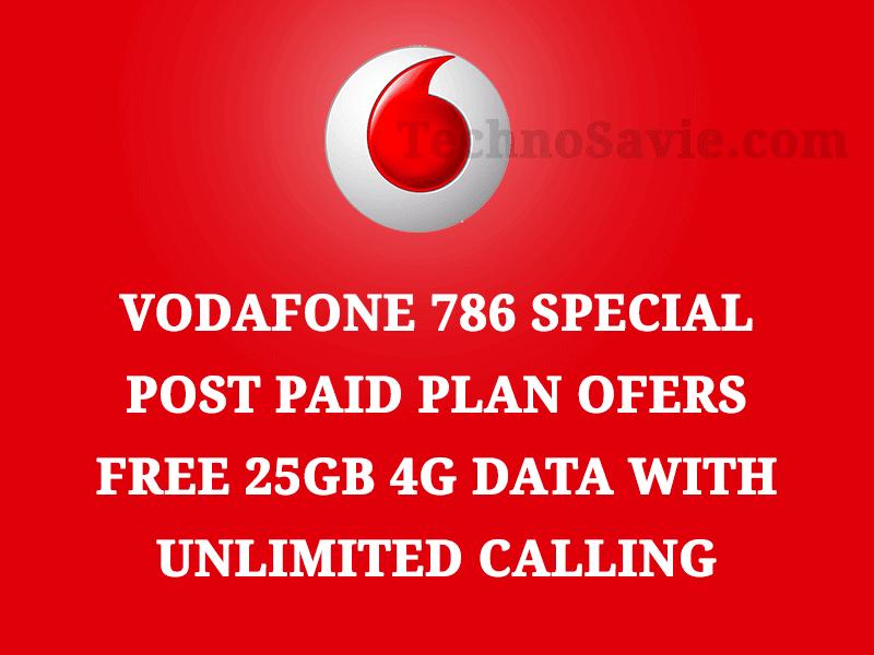 Vodafone Ramzan 786 special postpaid plan