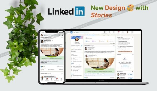 LinkedIn's new website design & app design