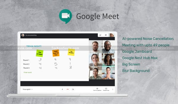 Google Meet New Features: AI-powered Noise Cancellation, Google Jamboard & Nest Hub Max
