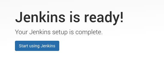 Jenkins is ready