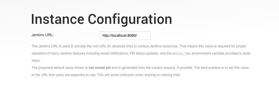 Jenkins Instance configuration