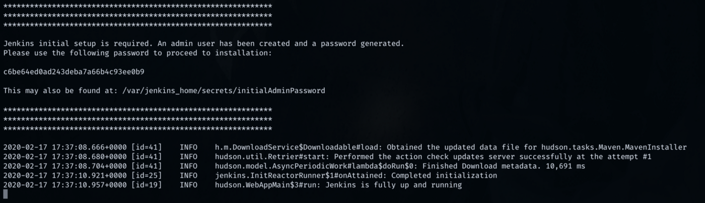 Jenkins login credentials