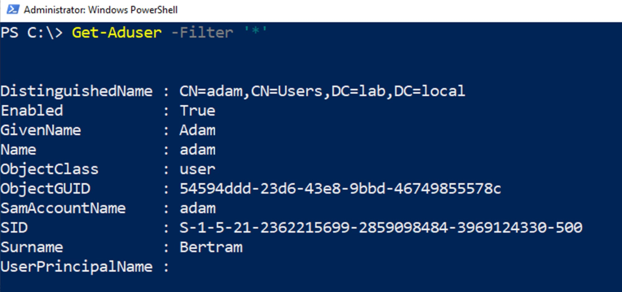 How to Install the PowerShell Active Directory Module and Connect