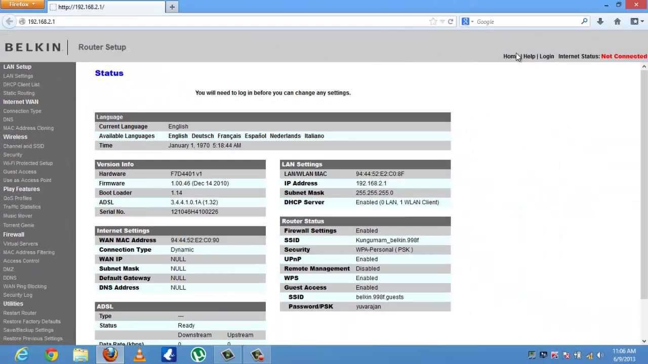Belkin Router Configuration