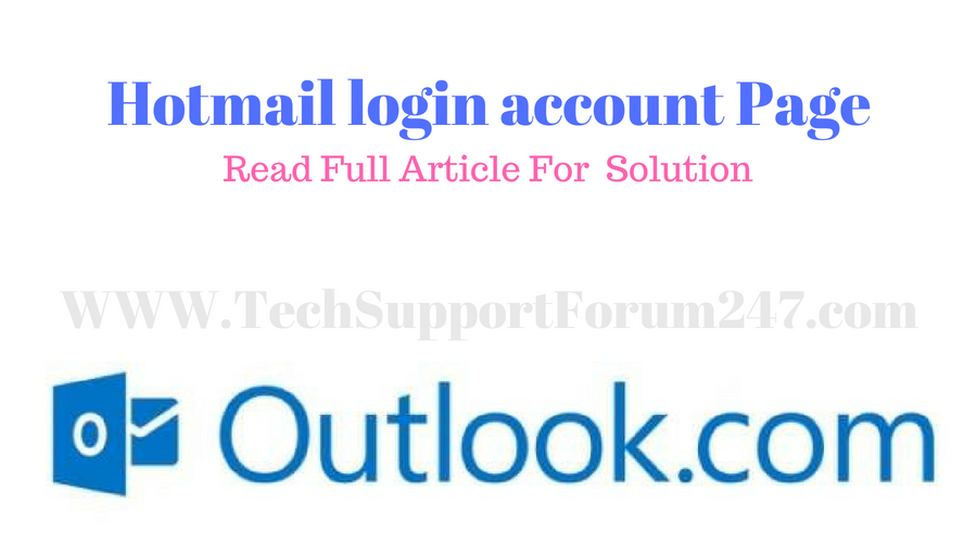 Hotmail login account Page