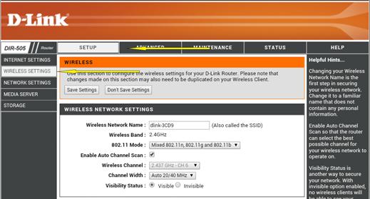 Login D-Link Router