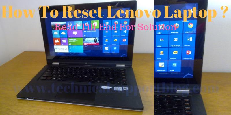 How To Reset Lenovo Laptop ?