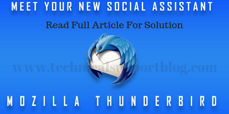 social assistant Mozilla Thunderbird