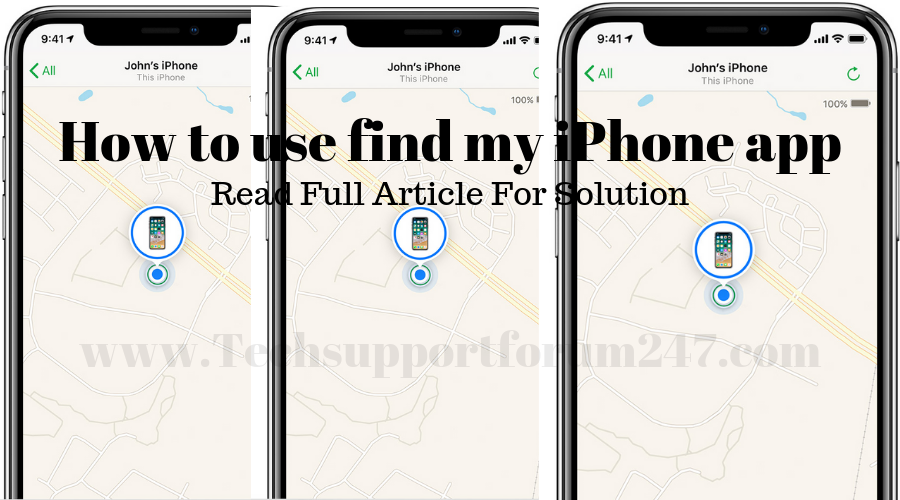 How to use find my iPhone app