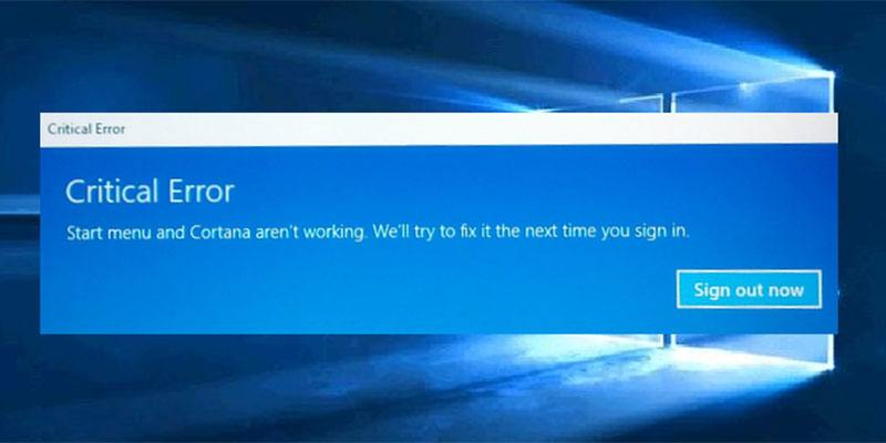 Most common problem in windows 10