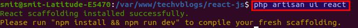 How to Install React in Laravel 8 - TechvBlogs