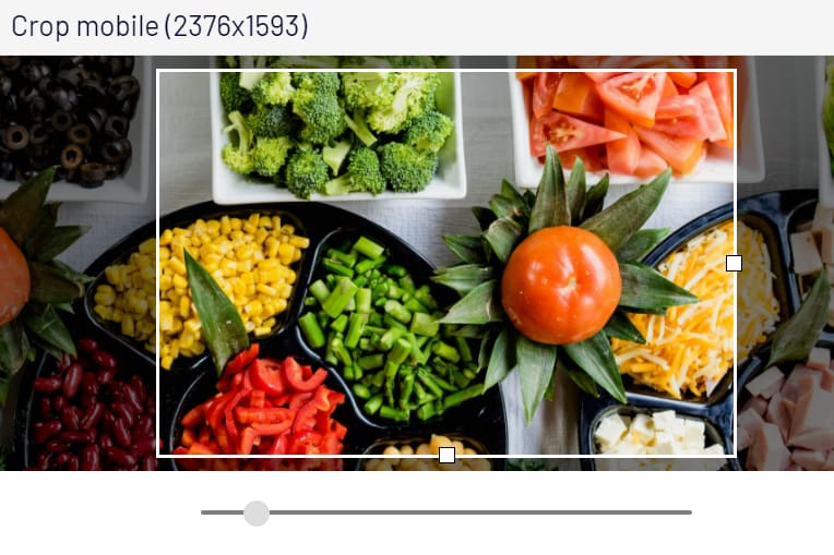 image cropping tool adaptive images displaying salad bowls