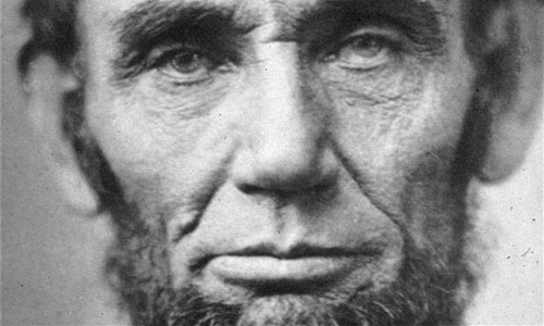 Lincoln's face